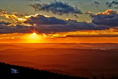 Spruce Knob Sunset Print by Brian Simpson