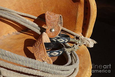 Working Cowboy Photograph - Spurs And Rope by Cindy Daly