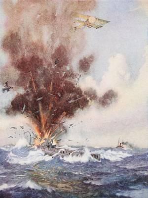 Squadron-commander A.w. Bigsworth Print by Joseph Harold Swanwick