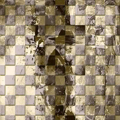 Chess Digital Art - Square Mania - Old Man 02 by Emerico Imre Toth