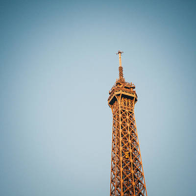 Square View Of The Eiffel Tower Print by Gianfranco Evangelista