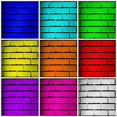 Squared Color Wall  Print by Semmick Photo