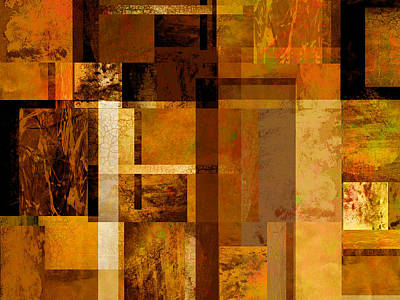 Squares And Rectangles Print by Ann Powell