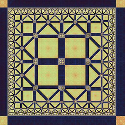 Eggleston Digital Art - Squares And Triangles by Mark Eggleston