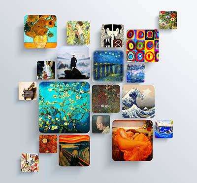 Impressionism Painting - Squares by Celestial Images