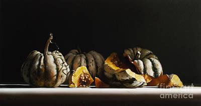 Squash Sweet Dumpling Print by Larry Preston