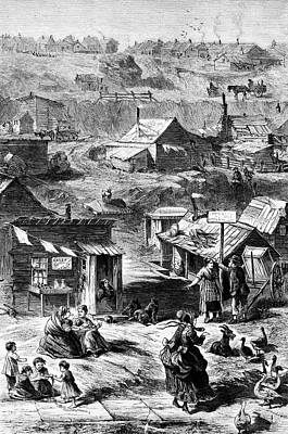 Squatters In New York City Print by Library Of Congress