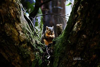 Squirrel Digital Art - Squirrel 8309 - F by James Ahn