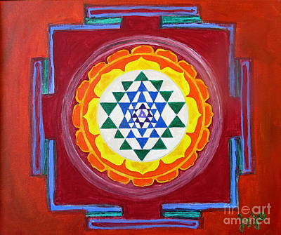 Sri Yantra Painting - Sri Yantra by Jodie  Scheller
