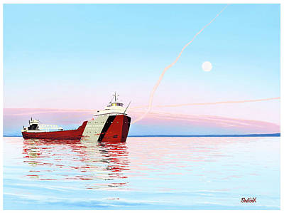 Lakers Painting - Ss Arthur M. Anderson by Dan Shefchik