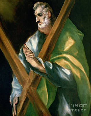 Spain Painting - St Andrew by El Greco Domenico Theotocopuli