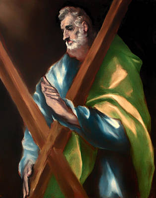 Christian Artwork Painting - St Andrew by Mountain Dreams