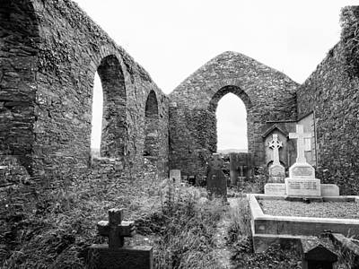 St. Andrews Church Ruins Print by Ron St Jean