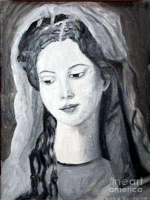 21st Drawing - St. Anne - Value Work  by Debbie Davidsohn