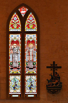 Window Photograph - St Anthony And St Francis Xavier by Christine Till