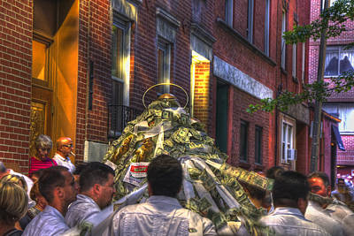 St Anthony's Feast - Boston North End Print by Joann Vitali