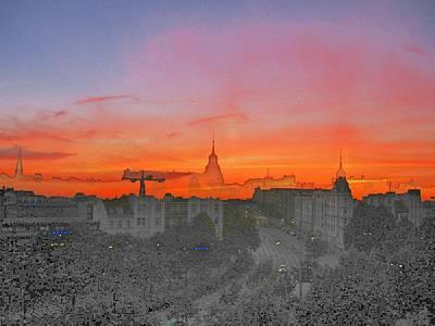 Hamburg Digital Art - St-art Sky Over Hamburg by Stefan Eckert