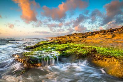 St. Augustine Fl Beach Sunrise - The Coquina Coast Print by Dave Allen