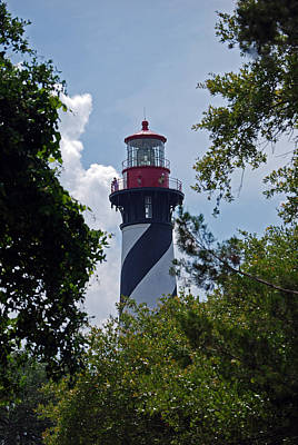 Of Lighthouses Photograph - St. Augustine Light by Skip Willits