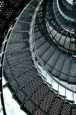 Geometric Shapes Photograph - St Augustine Lighthouse Staircase by Christine Till