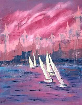 St. Augustine Sail Original by Margaret G Calenda