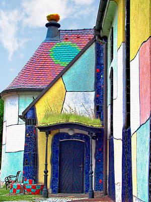 Colorful Photograph - St Barbara Church - Baernbach Austria by Christine Till