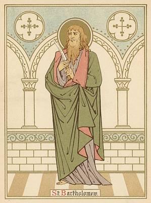 St Bartholomew Print by English School