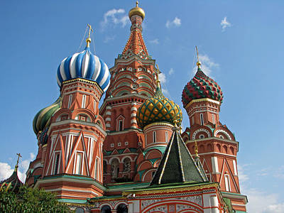 Eastern Europe Painting - St Basil's Cathedral Moscow by Robert Gerdes