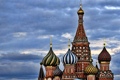 St Basils Cathedral - Moscow Russia Print by Jon Berghoff