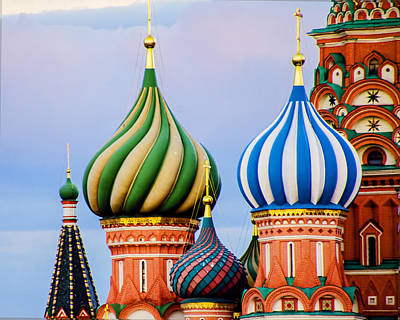 St Basils - Red Square - Moscow Russia Print by Jon Berghoff