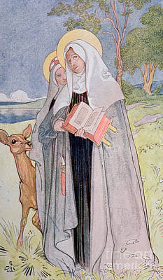 Nuns Painting - St Bridget Of Sweden by Carl Larsson