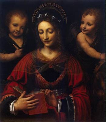 Immaculate Painting - St Catherine  by Celestial Images