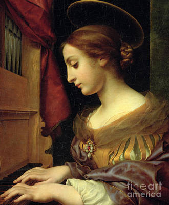 Martyr Painting - St. Cecilia by Carlo Dolci