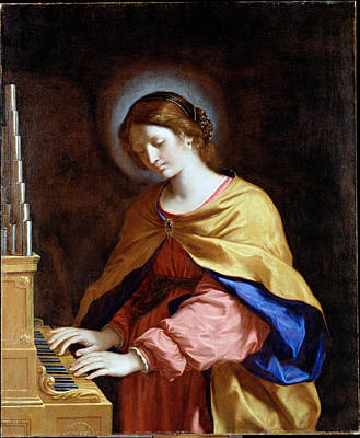 St Cecilia Painting - St Cecilia by Guercino