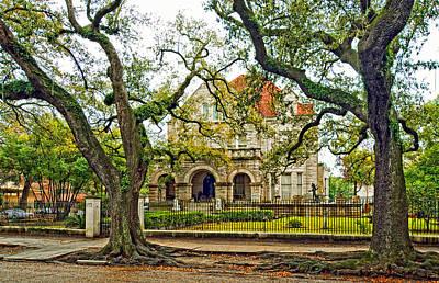 Rainy Day Photograph - St. Charles Ave. Mansion by Steve Harrington