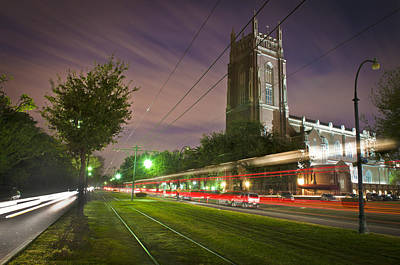 St Charles Avenue Photograph - St Charles Avenue Light Trails by Ray Devlin
