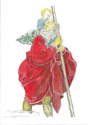 St. Christopher 5 Original by Marko Jezernik