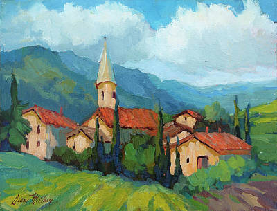 Construction Painting - St. Colombe Provence by Diane McClary