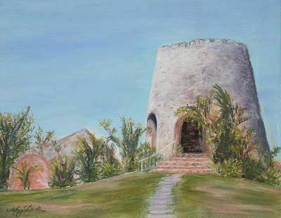St. Croix Sugar Mill Print by Mary Benke