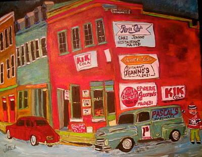 Litvack Painting - St. Dominique Corner Store Montreal Memories by Michael Litvack