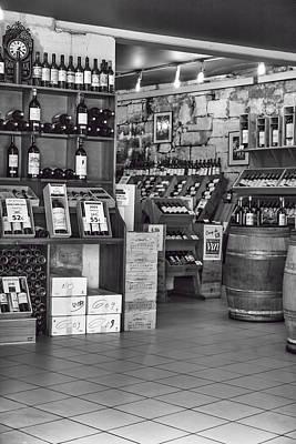 St Emilion Wine Seller Print by Georgia Fowler