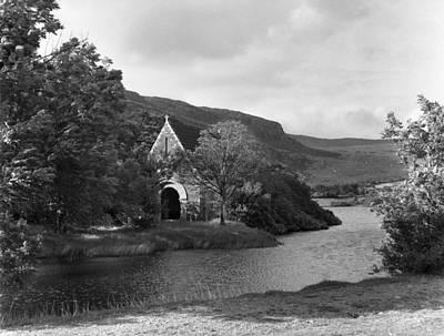Gougane Barra Church Photograph - St Finbarrs Monastery Cork 1954 by Irish Photo Archive
