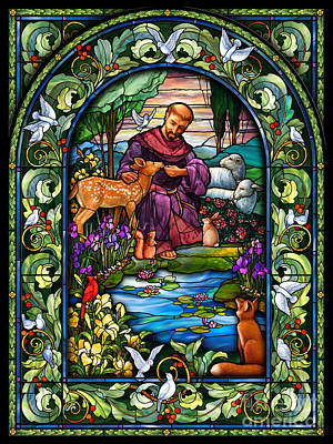 Sheep Digital Art - St. Francis Of Assisi by Randy Wollenmann