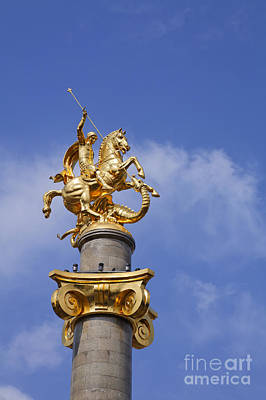 Tbilisi Photograph - St George And The Dragon Statue In Tbilisi by Robert Preston