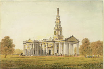 St George's Cathedral Print by British Library