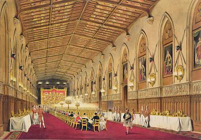 St Georges Hall At Windsor Castle Print by James Baker Pyne