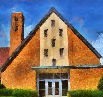 Exit Painting - St Gerard's Catholic Church by Dan Sproul