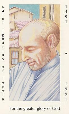 Ignatius Painting - St. Ignatius At Prayer In Rome by William Hart McNichols
