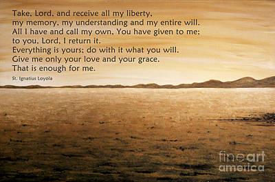 Ignatius Painting - Prayer Of St. Ignatius Loyola by Joanna Cieslinska