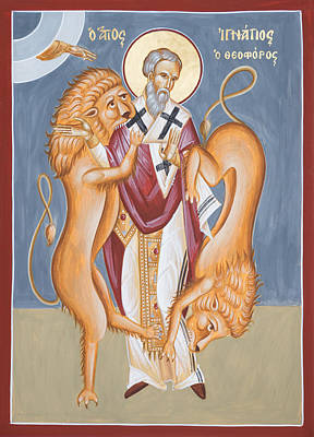 Byzantine Icon Painting - St Ignatius Of Antioch by Julia Bridget Hayes